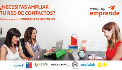 Postula a WoomUp Emprende, la Red de Mentorías Exclusiva para Emprendimientos Femeninos